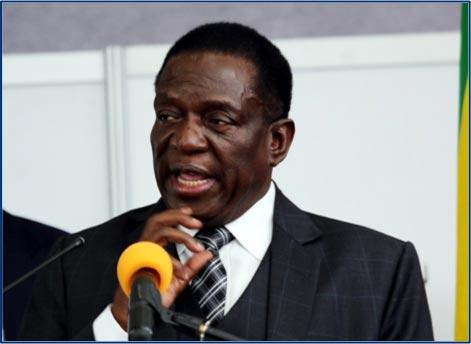 Emmerson Mnangagawa, new interim president of Zimbabwe