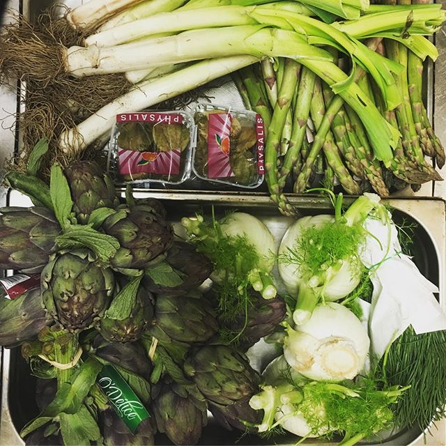 Hurrah for Spring produce! 🌱  Now we're just waiting for the sun to come back out!