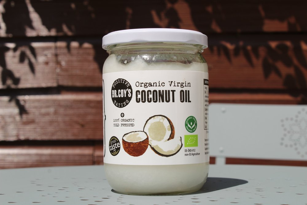 Organic Virgin Coconut Oil Dr Coys - Organic, Virgin, Raw, Cold Pressed and Unrefined Organic Virgin Coconut Oil can be used for cooking, baking and frying to make everything delicious! (Amazing as a care for you hair as well)