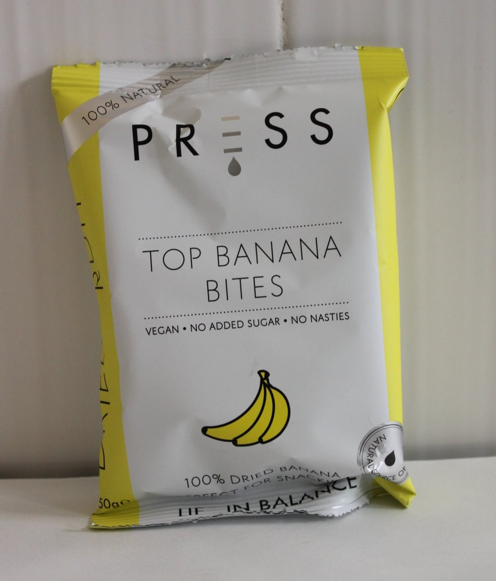 Top Banana BitesPress - Dried bananas chewy and rich in flavour made with Bogoya bananas. Made from 100% natural ingredients, it is a vegan snack with no added sugar.