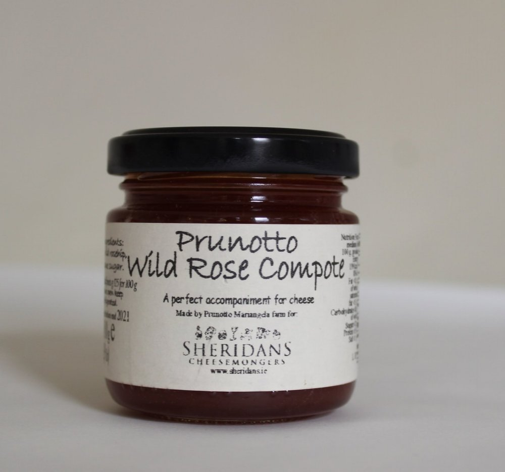 Wild Rose Jam Prunotto - Wild Rose jam is made in the heart of Piedmont in Italy from rosehips which is full of antioxidants. Lightly sweet and tangy, Prunotto's jam is perfect on fresh bread or pancakes as a breakfast or snack!