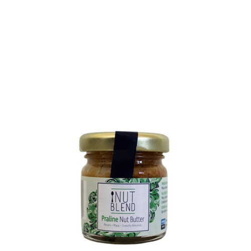Praline Nut ButterNut Blend - This is a healthy nutritious twist on a traditional praline recipe with just three natural ingredients: rich buttery pecans, crunchy almonds and Peruvian maca, which adds sweet caramel notes to really indulge on your sweet tooth. This jar contains 98% nuts!