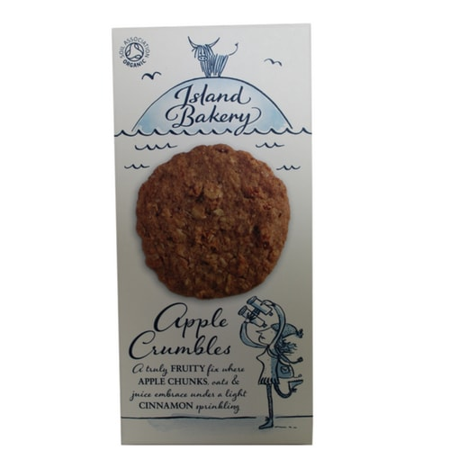 Apple Crumbles Island Bakery - A truly fruity fix under where apple chunks, oats & juice embrace under a light cinnamon sprinkling.All the comforting flavour of a piping hot home-baked apple crumble in a biscuit.
