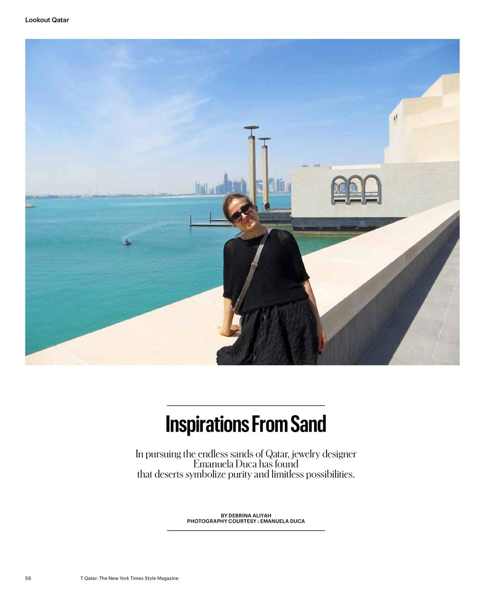 TQatar - The New York Times, Style Magazine, May 13