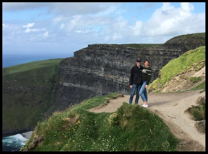 Maddie and Will in Ireland.