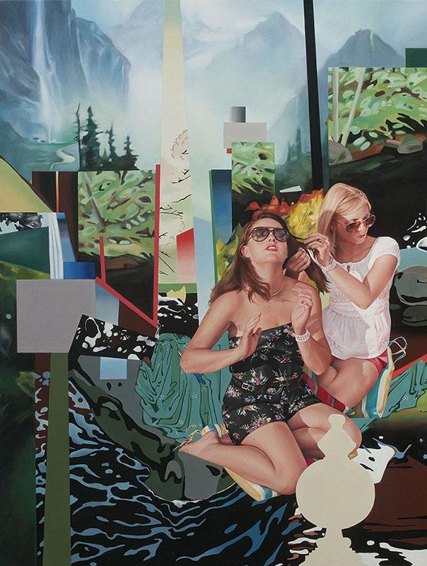 Delilah y Delilah 2012 oil on canvas