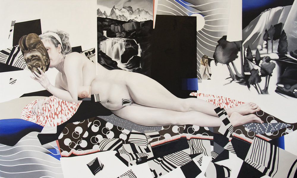"Perils of Quiet Conventions 2013 oil on canvas 66"" x 110"""