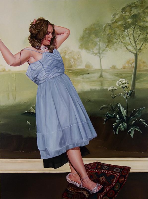 """Rebecca 2006 oil on canvas 65"""" x 50"""""""