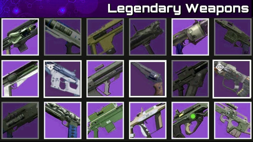 Legendary Weapons -