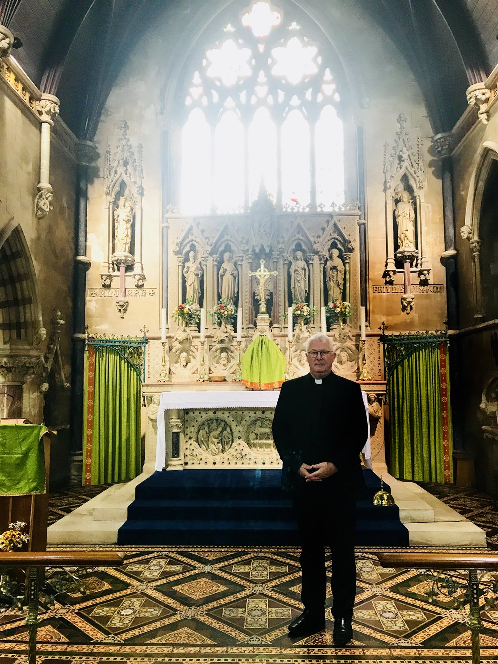 Fr Paul, pictured after an appeal at Our Lady of the Assumption, Swynnerton
