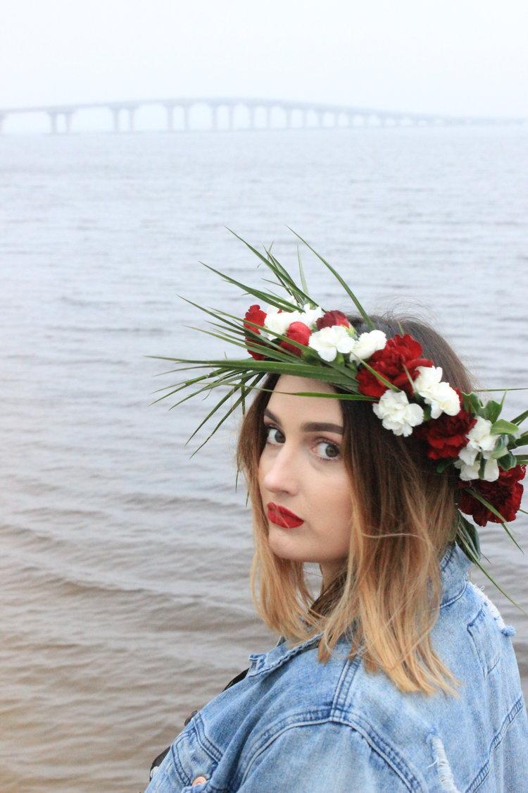 Flower crowns florals wild green miss daisy crown izmirmasajfo