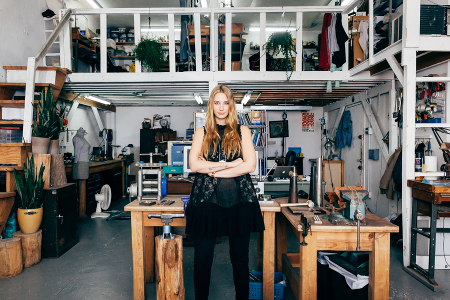Nina Berenato - After years in business, each piece of Nina Berenato's collection still touches the designer's hands. From her humble beginnings as a metalsmith's apprentice in Brooklyn to gracing the pages of Vogue, W, Cosmopolitan, MTV and outfitting fashion-forward celebrities like Alicia Keys, Lena Dunham, FKA Twigs and Lady Gaga, it's obvious that Nina walks through life with her eyes open, bringing a one of a kind vision to each design.A large part of Nina Berenato's brand identity rests on the designer's goal to use her gift for design to make all women feel powerful, beautiful and capable of anything.Since opening up her first retail store located in Austin, TX inside of a re-furbished 1959 Airstream Bambi, Nina has become a fixture in Austin's growing maker community. You can shop the Nina Berenato flagship store now open at 3200 Palm Way #152 at Domain NORTHSIDE (next to St. Bernard) where she produces her namesake collection, teaches jewelry making classes and leads her team of 7 incredible Austin women.