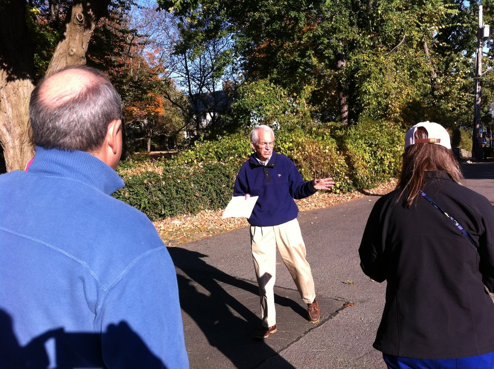 Walking tours - A favorite event each fall is the Rye History Walking Tour. These well-researched and scripted guided tours are well-known throughout Westchester. They are jam packed with interesting local tidbits and usually last  90 minutes.Some of the most popular ones recently have included: Milton Cemetery, Downtown, Milton Point, Rye Town Park Area and the Kirby Mill Pond. Past walking tour guides are available to members.