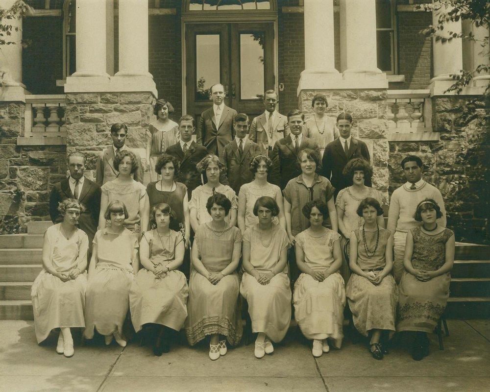 First Rye High School graduating class c 1920