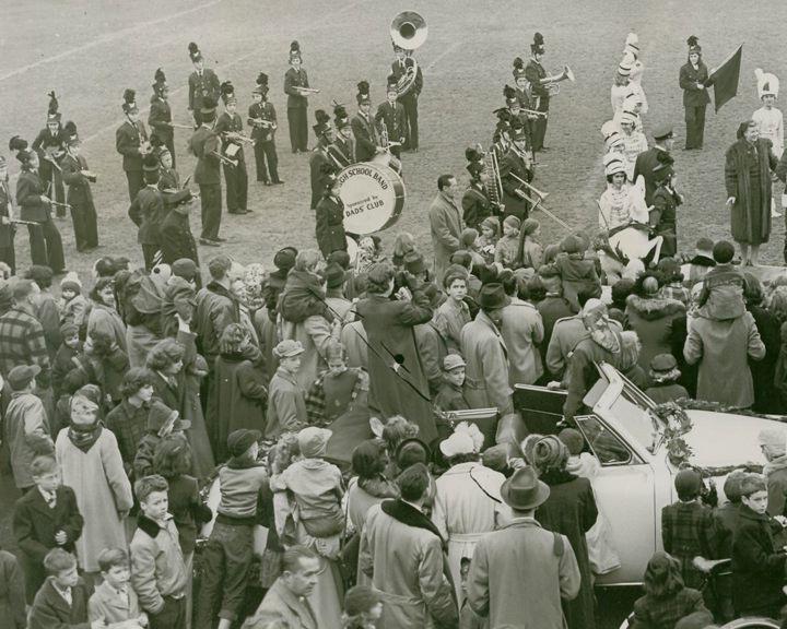 Santa visits c 1950's