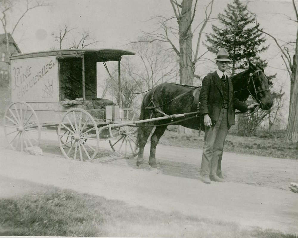 Grocery deliveries Rye c 1890s