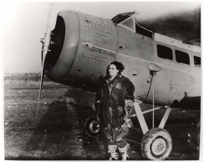 Ruth Nichols with her plane, a Lockheed Vega, in 1931. Photo Credit: National Air and Space Museum, Smithsonian Institute.