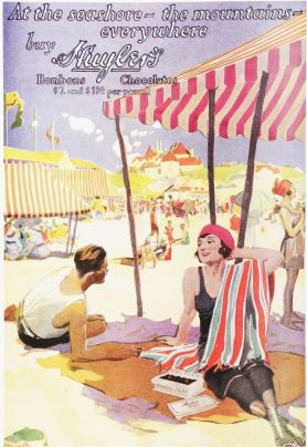 Huyler's Candy became popular nationwide, particularly in resort towns.