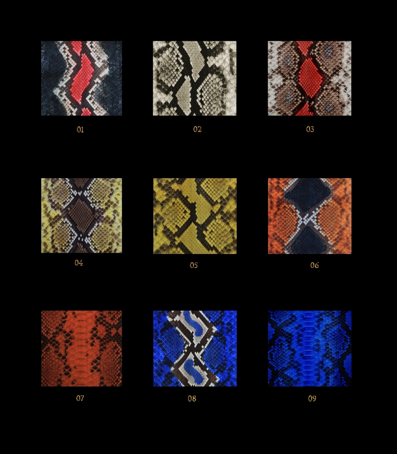 Python colour swatches