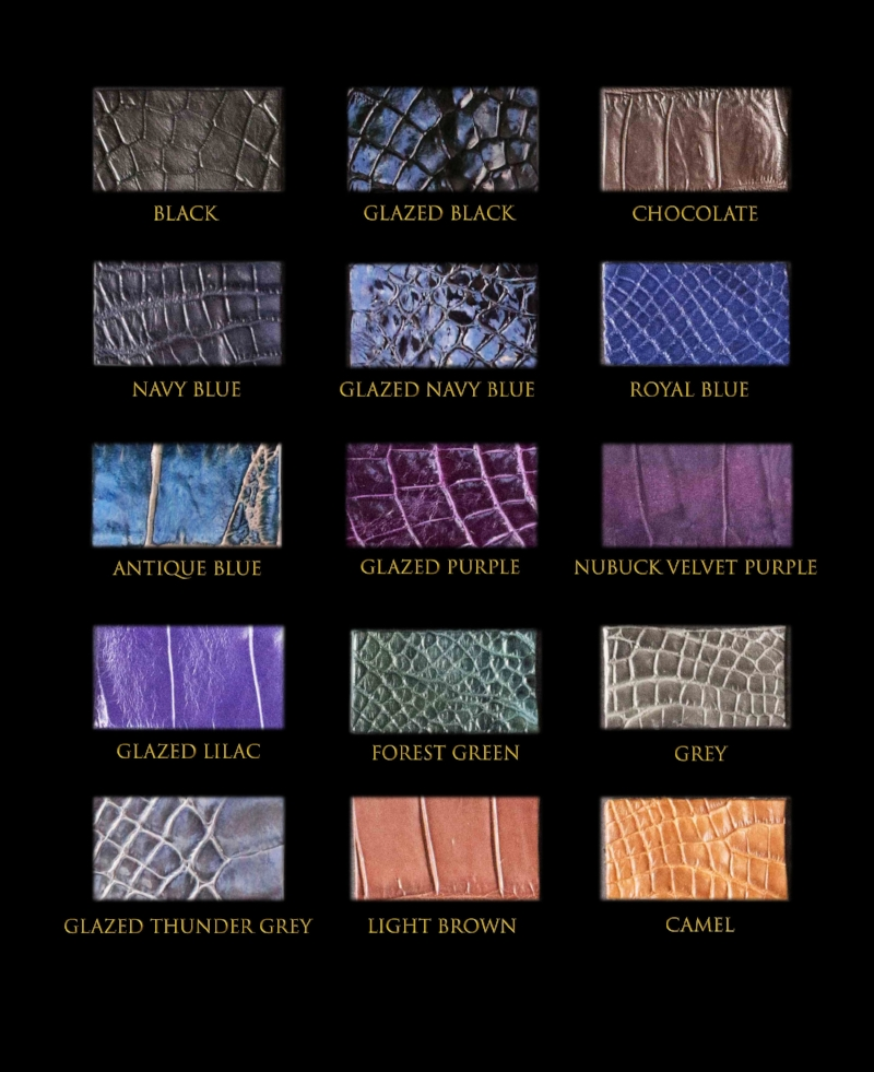 Crocodile leather catalogue