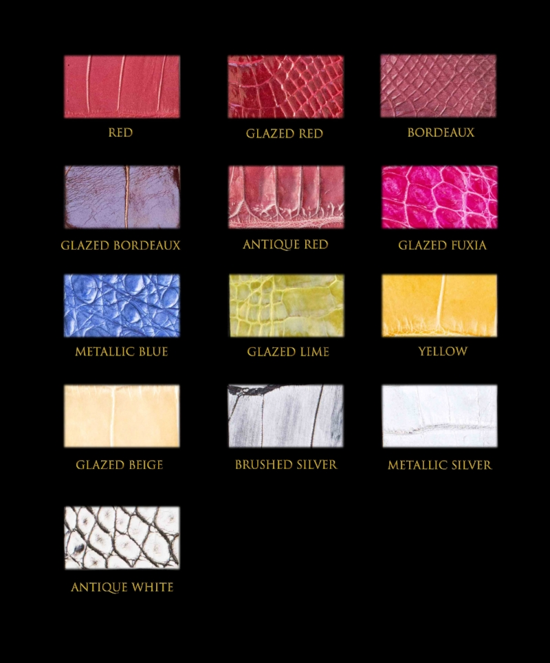 Crocodile skin colours