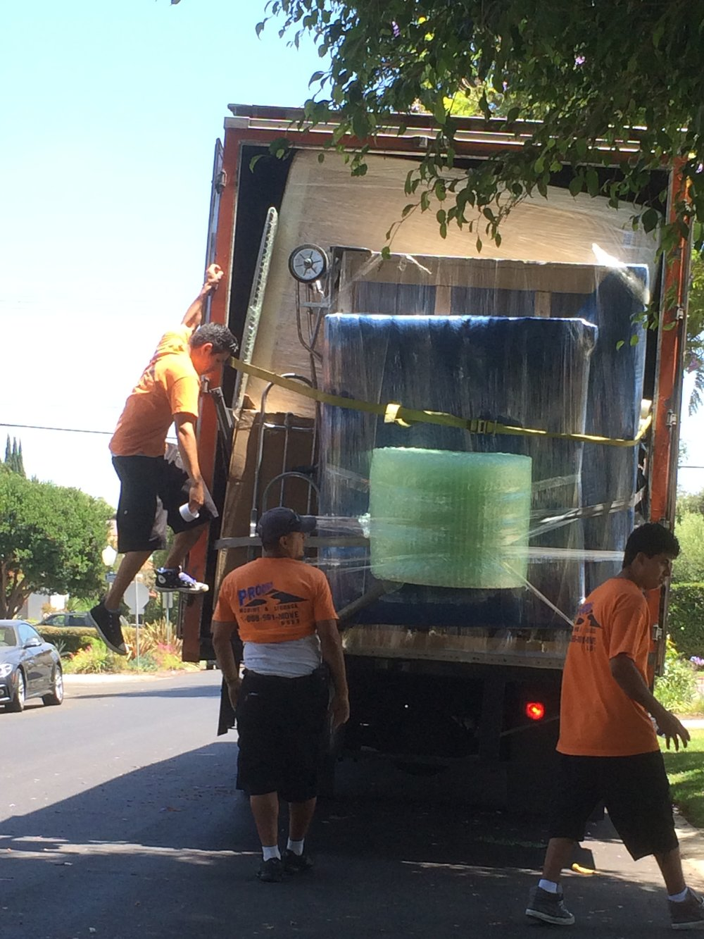 Our overstuffed moving truck during one local move in Los Angeles.