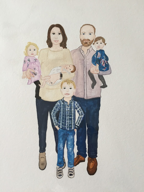 Our crew, illustrated by the talented  Laura Straley .