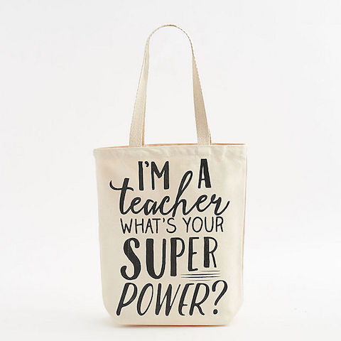 Teacher Superpower Tote