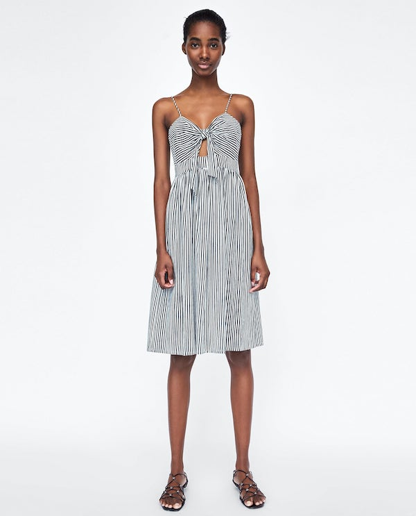 spring_dresses_to_wear_right_now_zara_striped_dress_with_knot.jpg