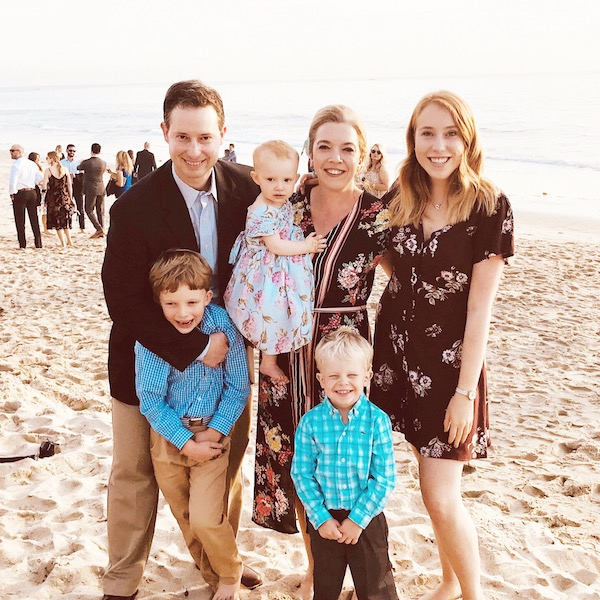 The Abbott family with Amy, their current au pair.