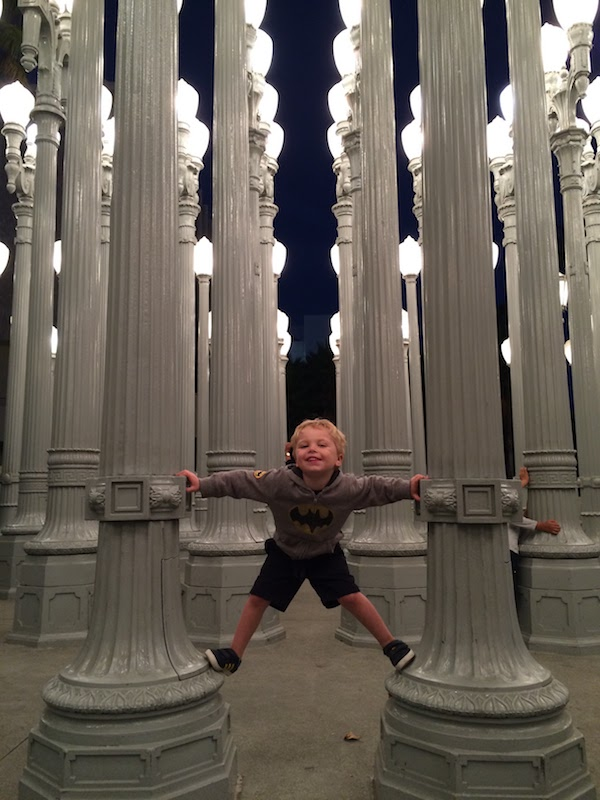 Our city boy at LACMA.