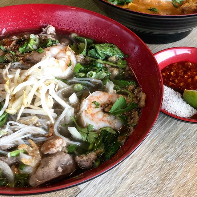 Last day of our BOGO deal on @ubereats!  Order one of these dishes and get the second one free: Pad Thai, Tumeric pork with glass noodles, Char kway teow, Vietnamese summer salad rolls or Boat noodle soup. #cravesing