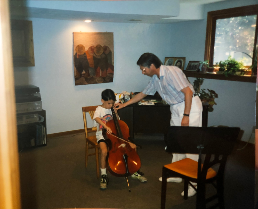 Mike's First Cello Lesson.png