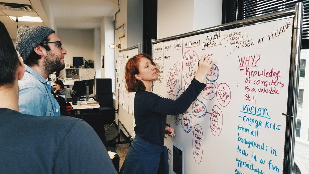 Brainstorming design goals.
