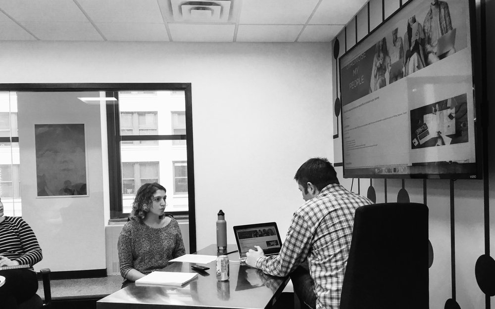 Conducting a user test with Mike, a past client of Cushman and Wakefield and commercial real estate buyer/owner.