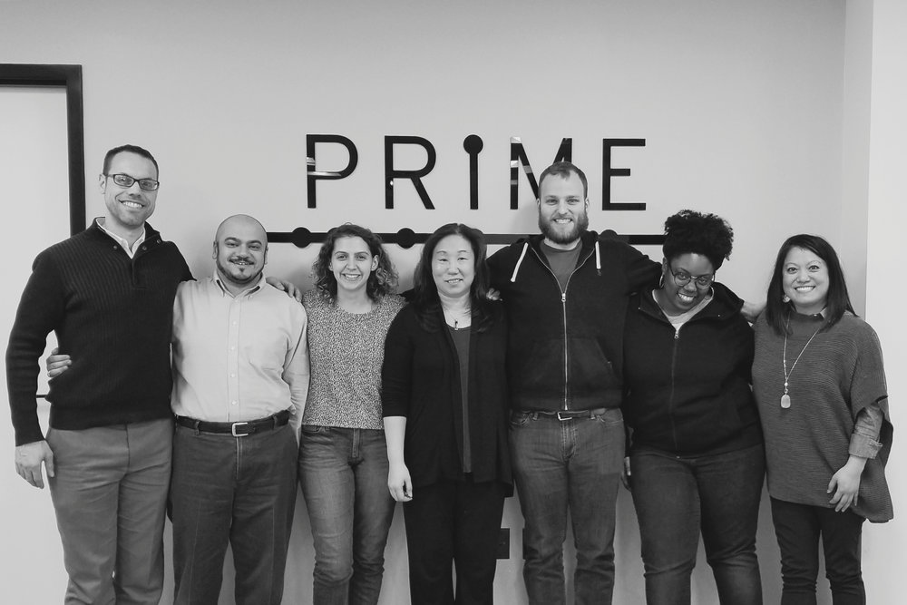 Our team with Wade, Ibro and Mandy - our clients at Reve Academy.