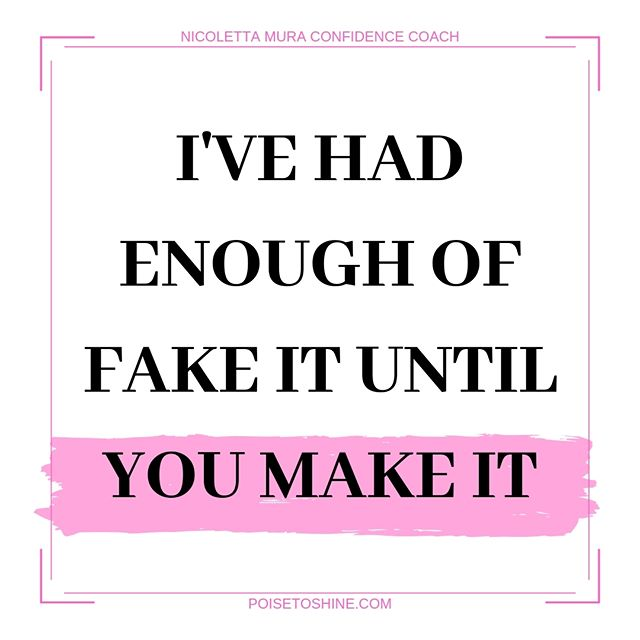 I'm done with outdated BS like 'fake it until you make it'. 🔥 You can MAKE IT without having to fake anything. You can MAKE IT by being yourself and leveraging your strengths. Do you know what's something you missed out doing so far? 💖 You haven't tapped into your inner mentor, into the confident and strong woman you already are, deep within! 😍 What's something you are fed up with? What's an outdated BS that you keep hearing and it's just noise? TELL ME IN THE COMMENTS!!! 😘