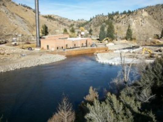 Big Hole Diversion Dam Project near Divide Montana