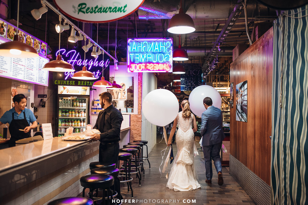 Reading Terminal Market Philadelphia Wedding:Emily & Sam - Here's what happens when a twin foodie from Philadelphia meets another twin foodie in New Orleans and the two fall madly in love!Read more about this love story...