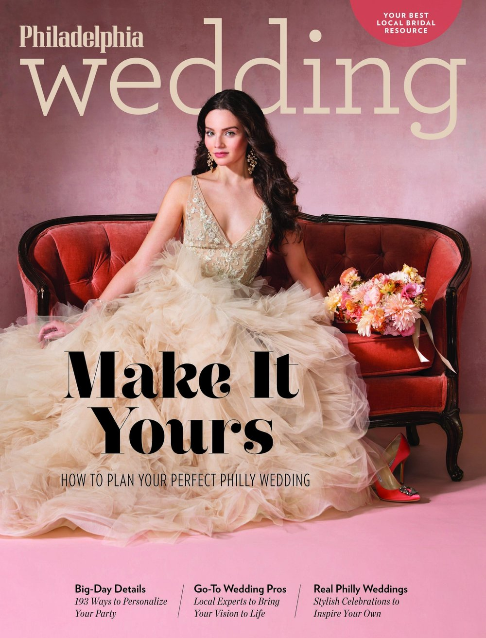 truly you featured in philadelphia wedding magazine - Check out Emily & Sam strutting their stuff down filbert street with the mummers Read More About this Story