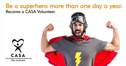 You can be a superhero! Come and find out more about being a voice for a child.
