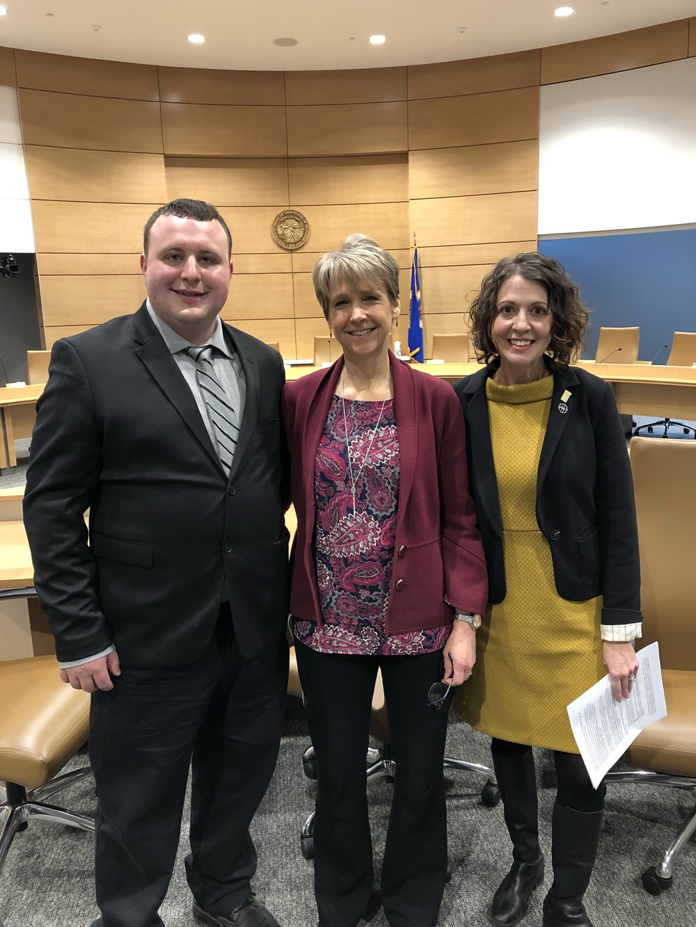Senate E-12 Committee, February 6, 2019 hearing on universal screening bill with Reading Center alum Nick Keller, Executive Director Cindy Russell, and Decoding Dyslexia Minnesota chair Rachel Berger.