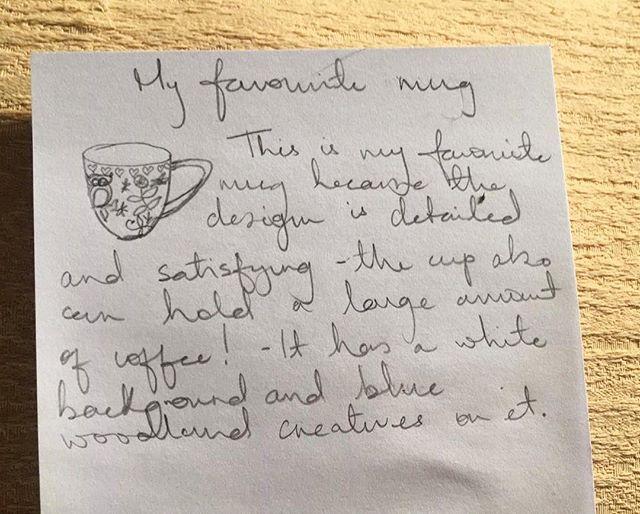 "One of our first ""favorite mug"" responses! ❤️#thehomemadeexchange #sociallyengagedcraft #favoritemug #nceca2019"