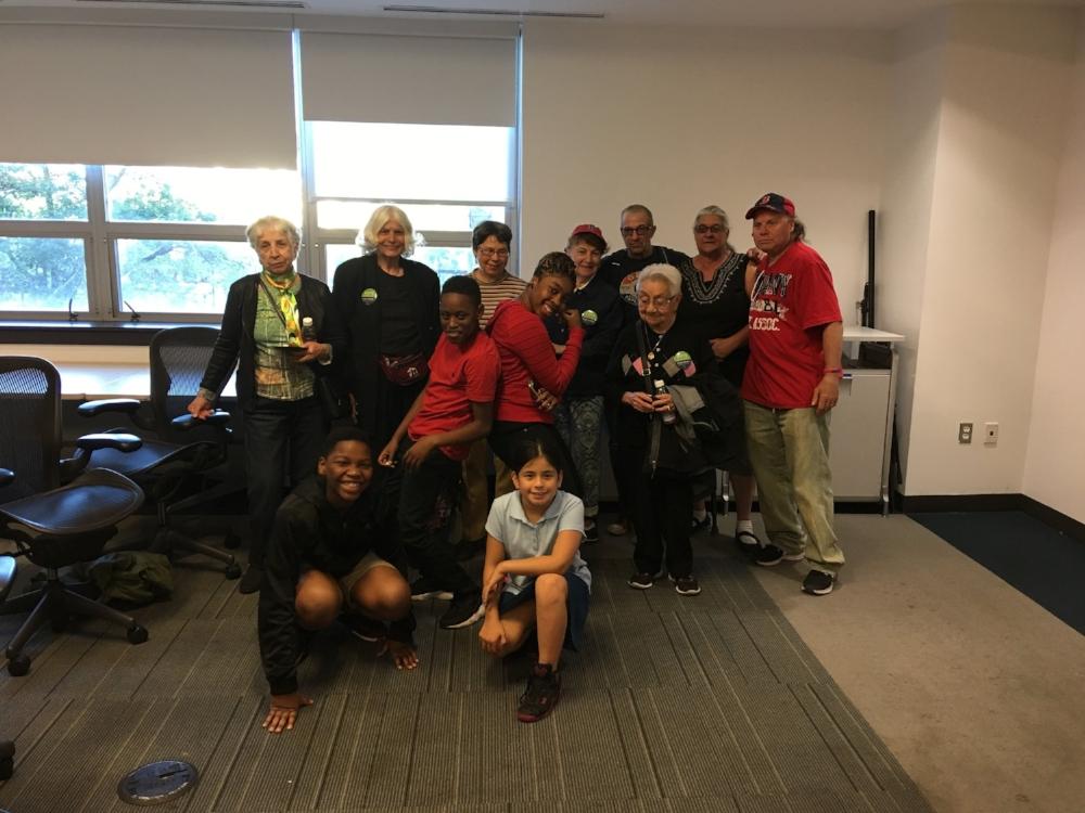 Youth at Operation P.E.A.C.E. and seniors from the Peterborough Senior Center. Photo: Sarah Noreiga