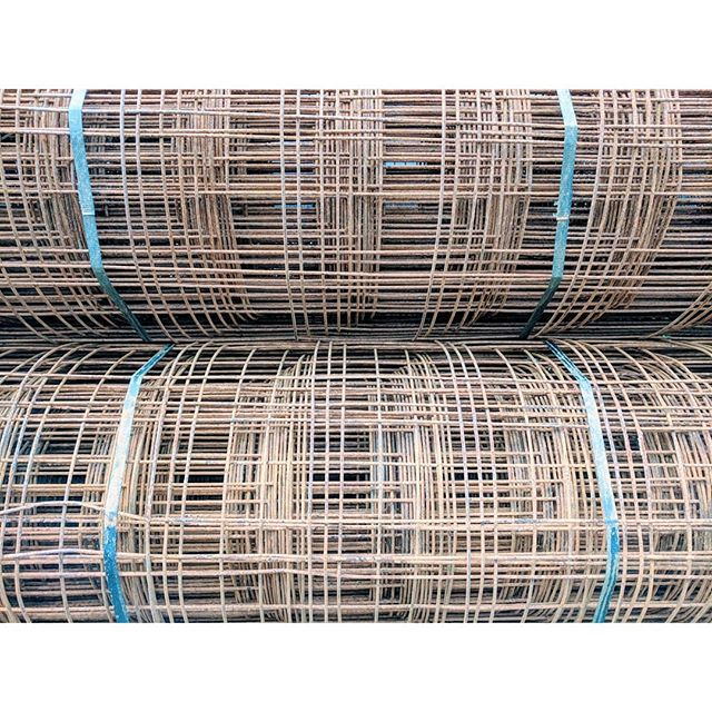04/25/18 - Week 7 - Rolls of #weldedwirefabric are on site in preparation for our #crawlspaceslab pour. #martinsgrehl