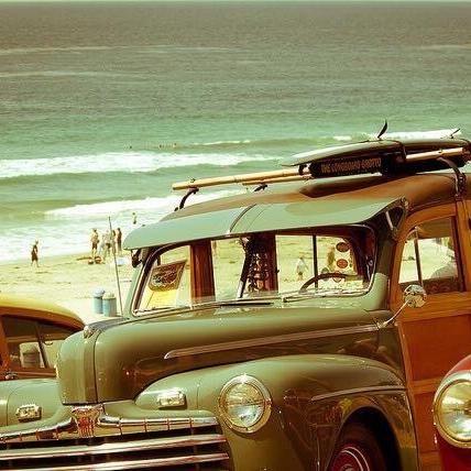 Old Car on the Beach, Encinitas Walking Tour