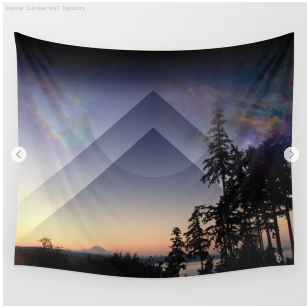 Rainier Sunrise Tapestry  68 X 80 // $63.99