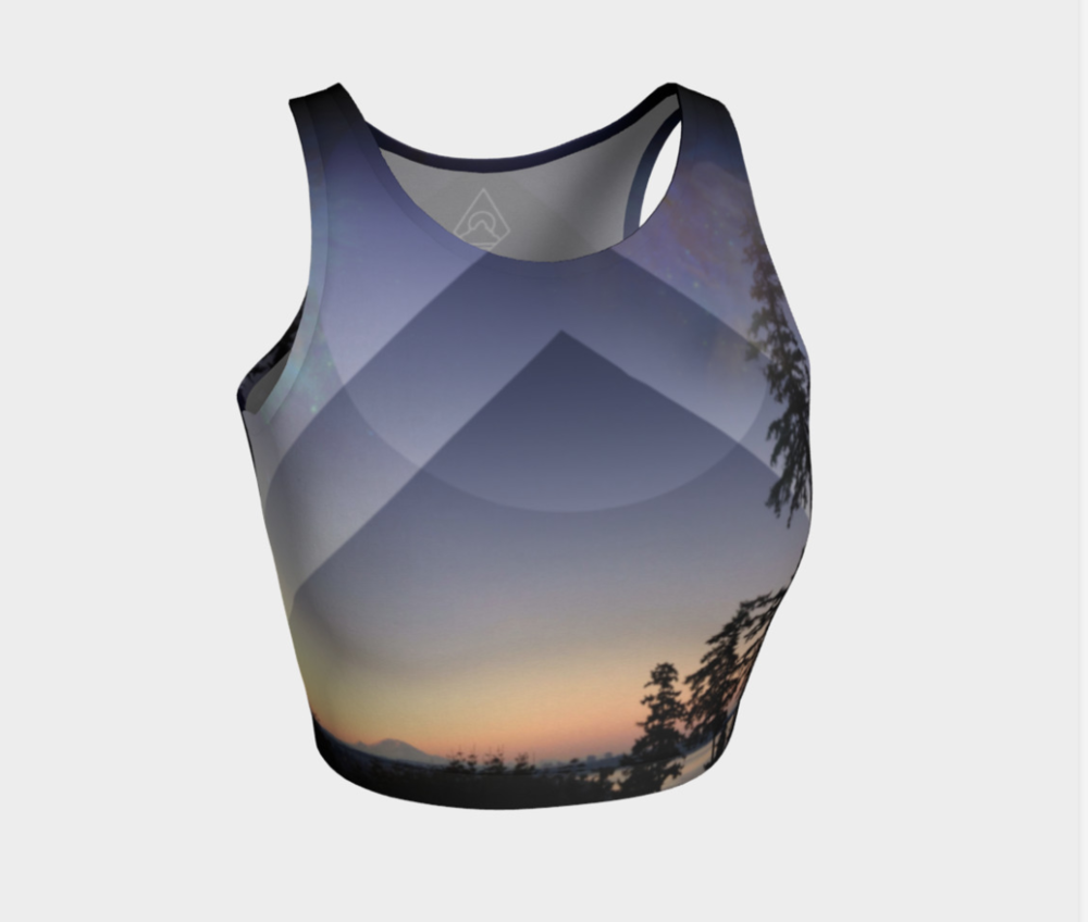 Rainier Sunrise Crop Yoga Top // $28