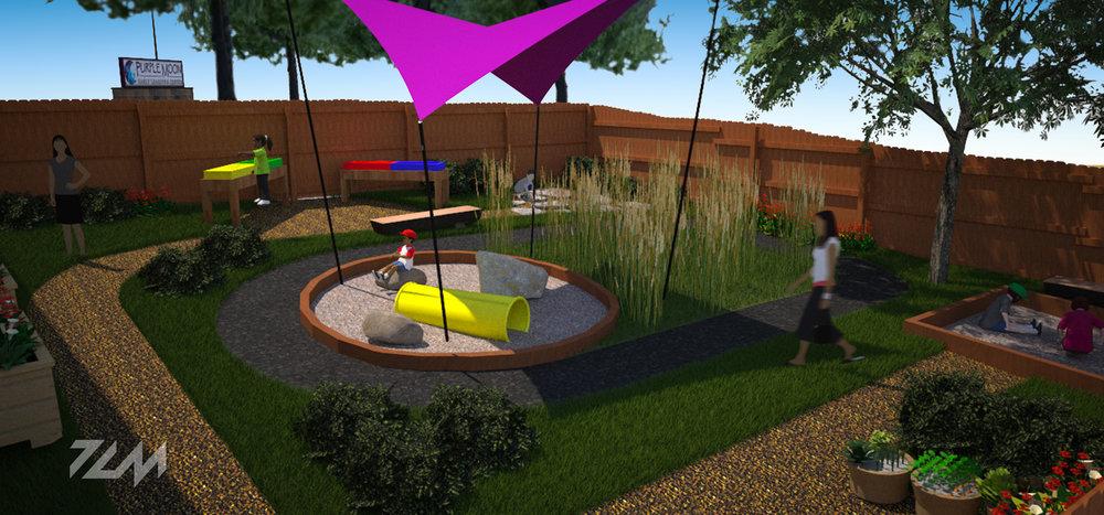 Infant/Toddler Playground Rendering