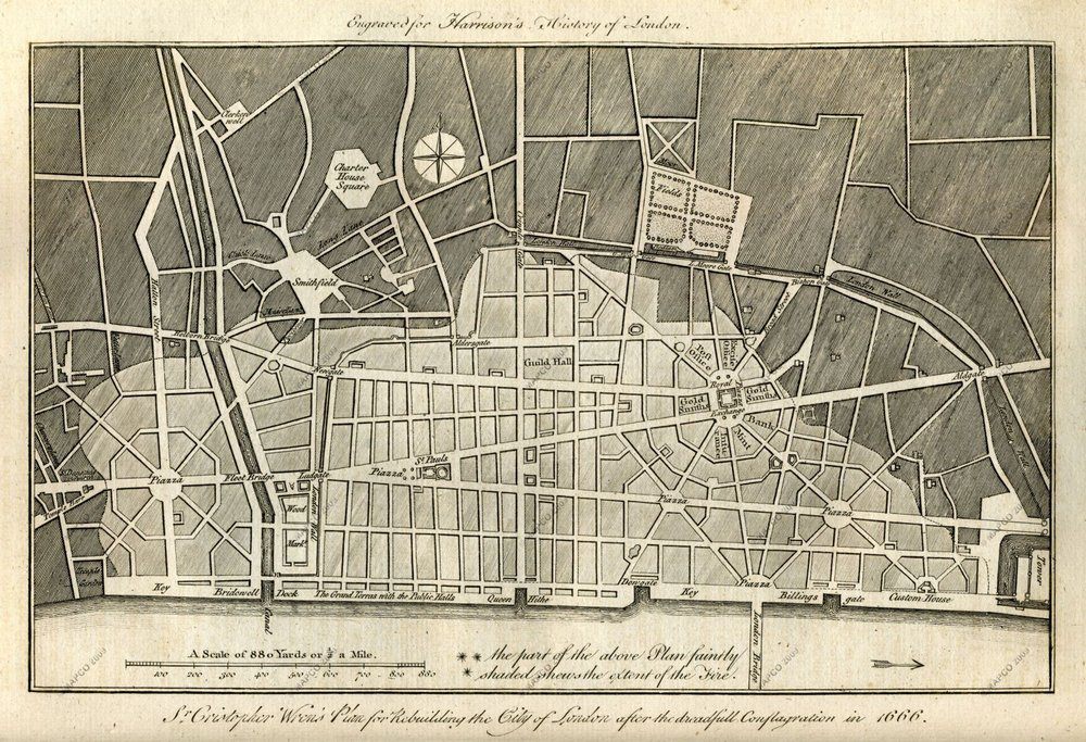 London as imagined by Sir Christopher Wren